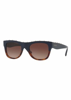 Valentino Rockstud Two-Tone Square Sunglasses