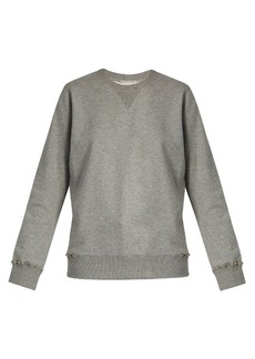Valentino Rockstud Untitled #8 cotton-blend sweatshirt