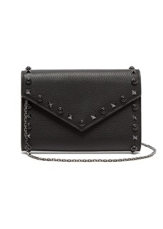 Valentino Rolling Rockstud grained-leather clutch