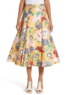 Valentino Romantic Garden Brocade Skirt