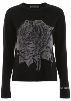 Valentino Rose Embroidery Pullover