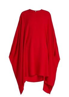 Valentino Round-neck silk-crepe dress