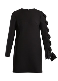 Valentino Round-neck wool-cady dress
