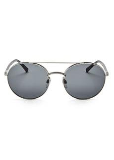 Valentino Round Sunglasses, 55mm