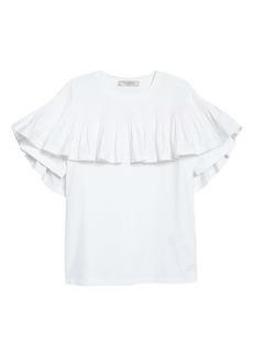 Valentino Ruffle Cotton T-Shirt