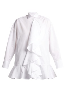 Valentino Ruffle-trimmed cotton shirt