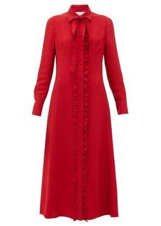 Valentino Ruffled crepe midi dress