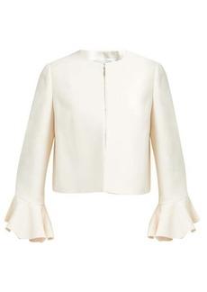 Valentino Ruffled-cuff wool-blend jacket