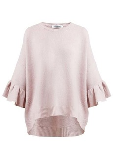 Valentino Ruffled-cuff wool-blend sweater