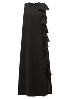 Valentino Ruffled silk-cady gown