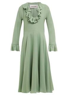 Valentino Ruffled silk-georgette dress