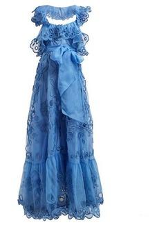 Valentino Ruffled silk-organza gown