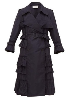Valentino Ruffled technical trench coat