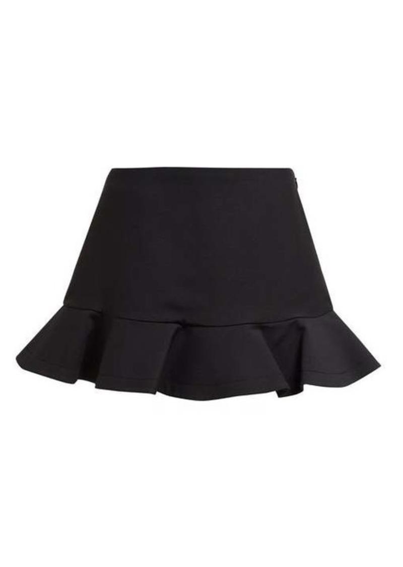 Valentino Ruffled wool-blend mini skorts