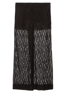 Valentino Sangallo-lace wide-leg trousers