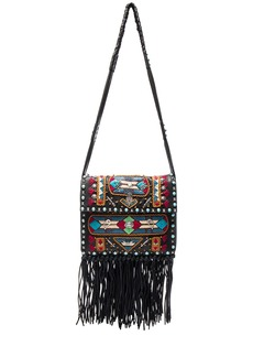 Valentino Santeria Fringe Shoulder Bag