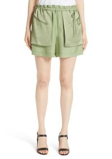 Valentino Satin Pocket Shorts