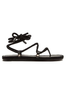 Valentino Satin rope wraparound sandals