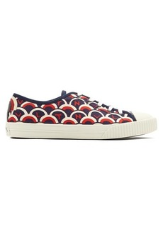 Valentino Scale-print low-top canvas trainers