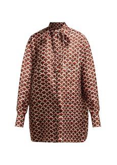 Valentino Scale-print silk blouse
