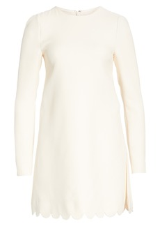 Valentino Scallop Detail Wool & Silk Top