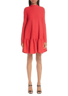 Valentino Scalloped Ruffle Trapeze Dress