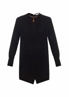 Valentino Scarab-necklace silk blouse