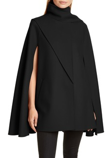 Valentino Scarf Detail Wool & Cashmere Cape