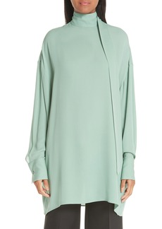 Valentino Scarf Neck Silk Georgette Blouse