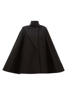 Valentino Scarf-neck wool-blend cape