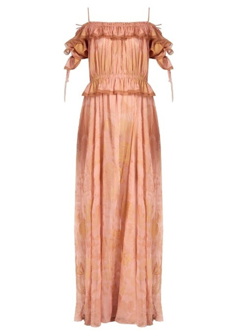 Valentino Shadows of Delight off-the-shoulder silk gown