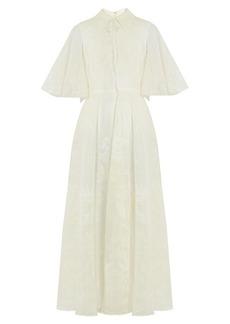 Valentino Shadows of Delight-print silk-organza gown