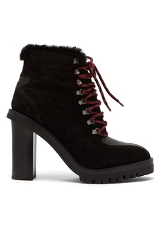 Valentino Shearling-lined suede boots