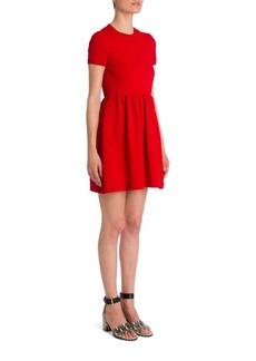 Valentino Short-Sleeve Bambolina Daisy Embroidered Dress