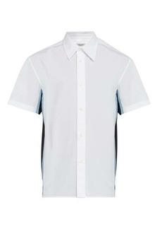 Valentino Short-sleeved silk-insert cotton shirt