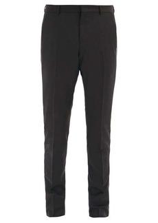 Valentino Side-striped wool-blend slim-leg trousers