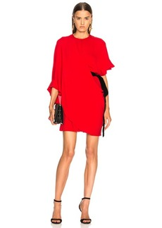 Valentino Side Tie Draped Mini Dress