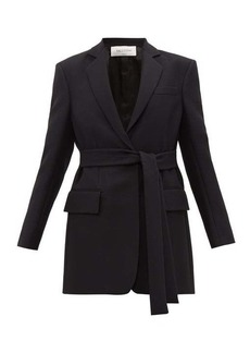 Valentino Single-breasted belted silk-blend crepe jacket