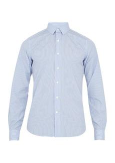 Valentino Single-cuff striped cotton shirt