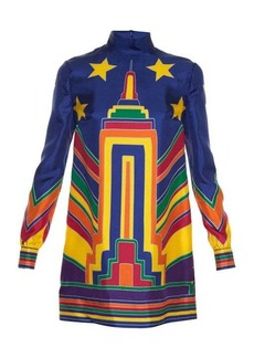 Valentino Skyline-print high-neck tunic dress