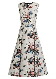 Valentino Sleeveless Enchanted Jungle-jacquard dress