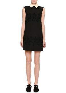 Valentino Sleeveless Lace-Inset Minidress