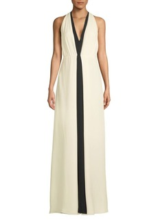 Valentino Sleeveless Silk Floor-Length Dress