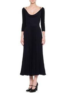 Valentino Sleeveless Strappy Crisscross Midi Dress