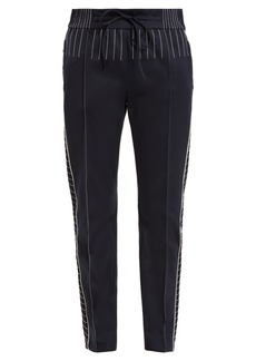 Valentino Slim-leg jersey track pants