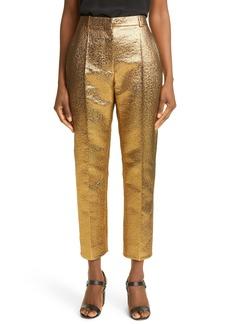 Valentino Slim Leg Metallic Crop Trousers