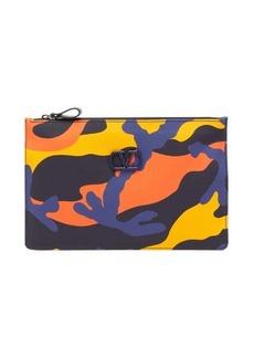 Valentino Garavani Small camouflage-print coated-canvas pouch