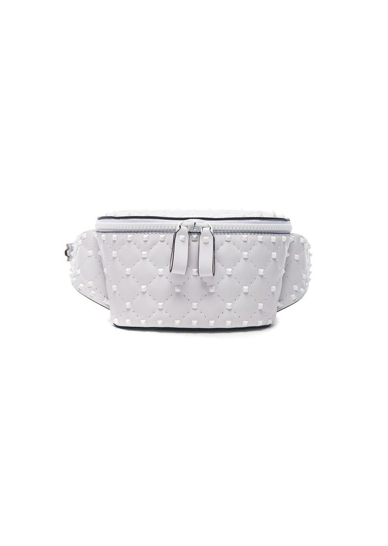 3b86d3dd11 Valentino Valentino Small Quilted Free White Rockstud Spike Belt Bag ...