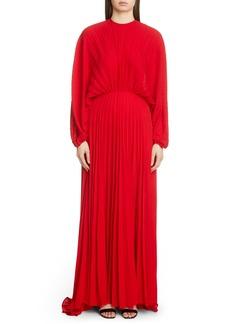Valentino Soleil Plissé Silk Gown