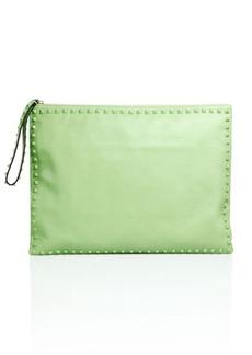 Valentino Solid Stud Trimmed Handbag